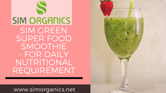 SIM Green Super Food Smoothie