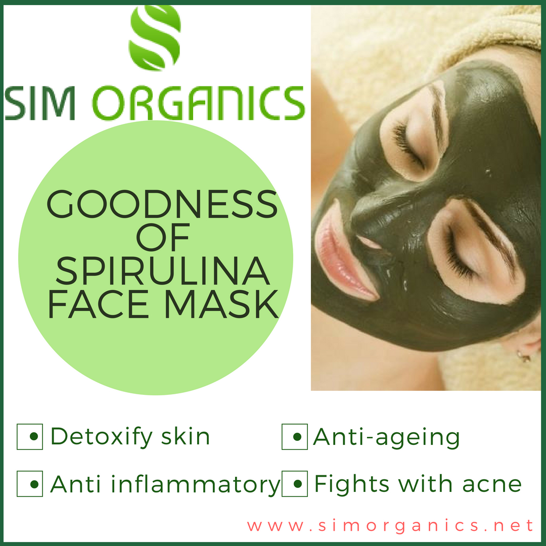 Spirulina face mask